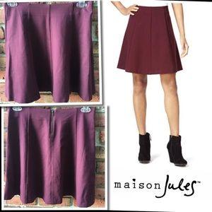 Maison Jules Wine Burgundy Hollywood Skirt Large
